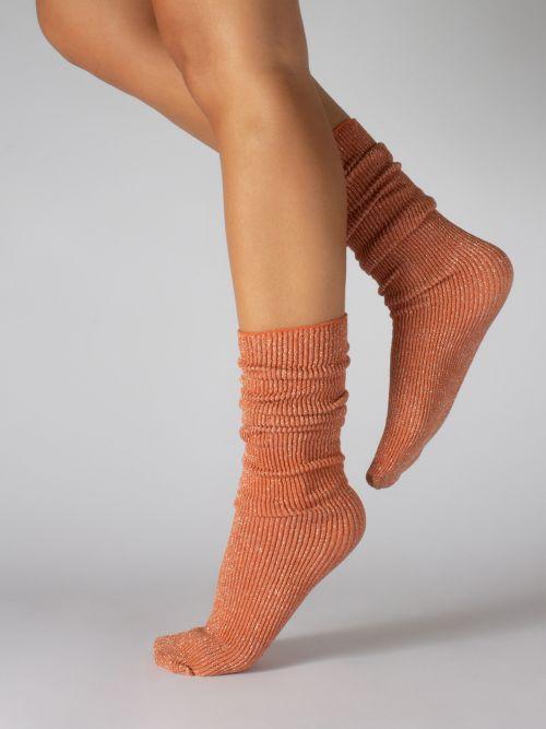 Glitter ribbed socks