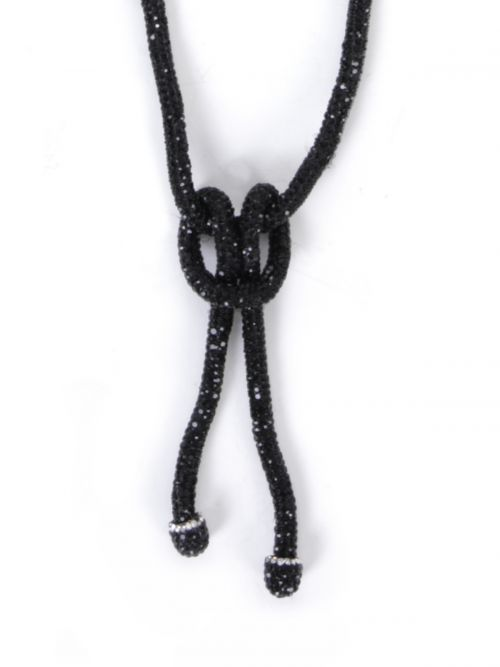 Knot necklace with strass
