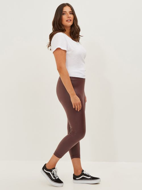 Faux leather leggings 7/8