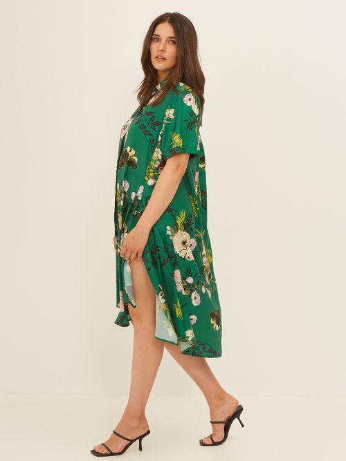 Φόρεμα σεμιζιέ σατέν φλοράλ