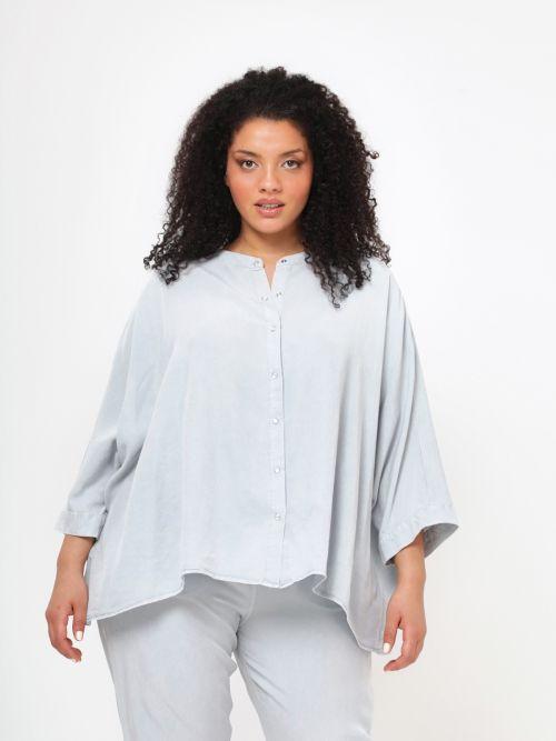 Lyocell shirt in light denim wash