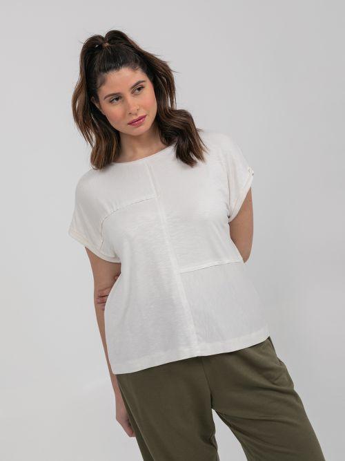 Μπλούζα βισκόζη patchwork
