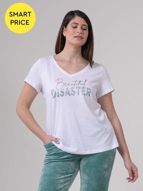 Μπλούζα βαμβακερή με τύπωμα