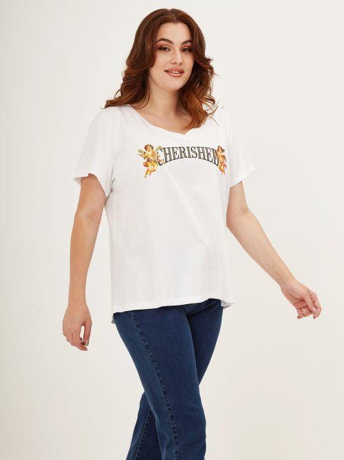 Μπλούζα t-shirt με στάμπα