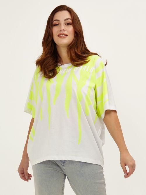 Cotton neon print t-shirt