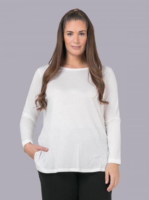 Βαμβακερή μπλούζα με στρογγυλή λαιμόκοψη