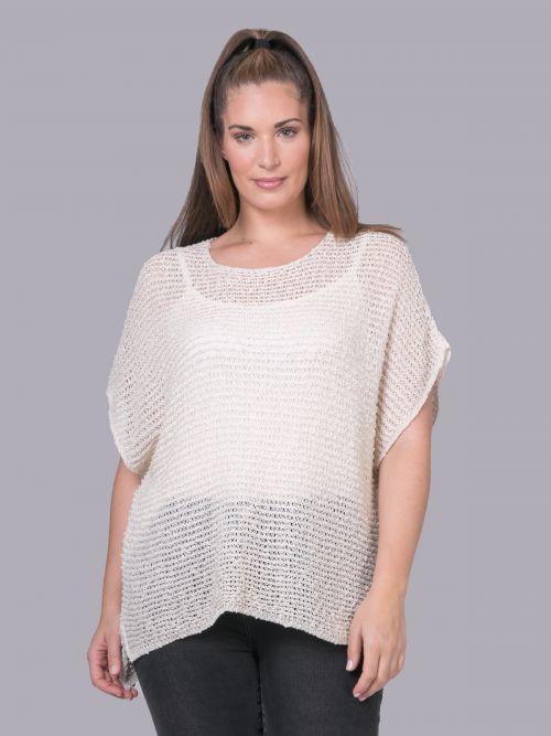 Μπλούζα με βαμβακερή πλέξη | Online Exclusive