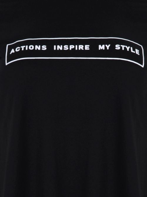 Cotton t-shirt 'Actions Inspire My Style'