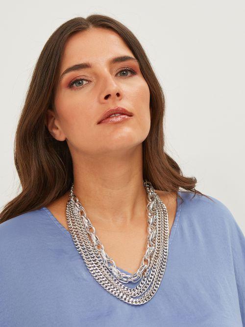 Multirow chain necklace