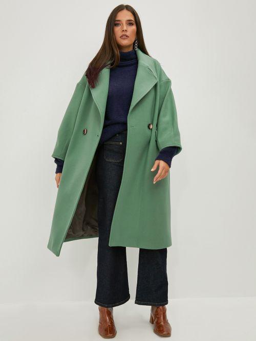 Παλτό oversized μονόχρωμο