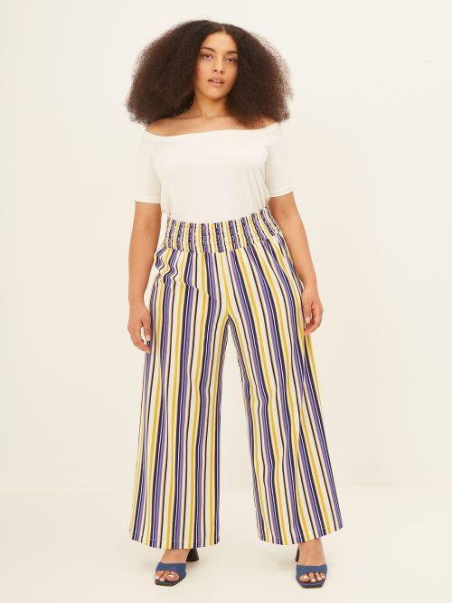 Παντελόνα ριγέ με ελαστική μέση