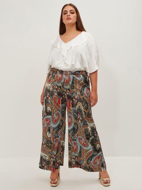 Παντελόνα σατέν paisley