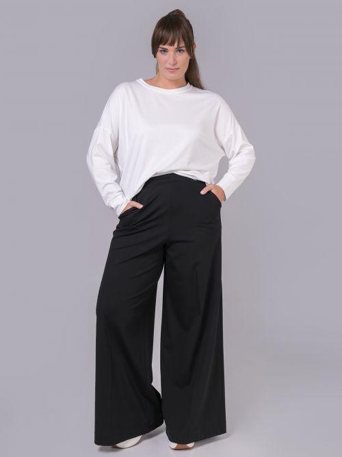 Viscose wide-leg trousers