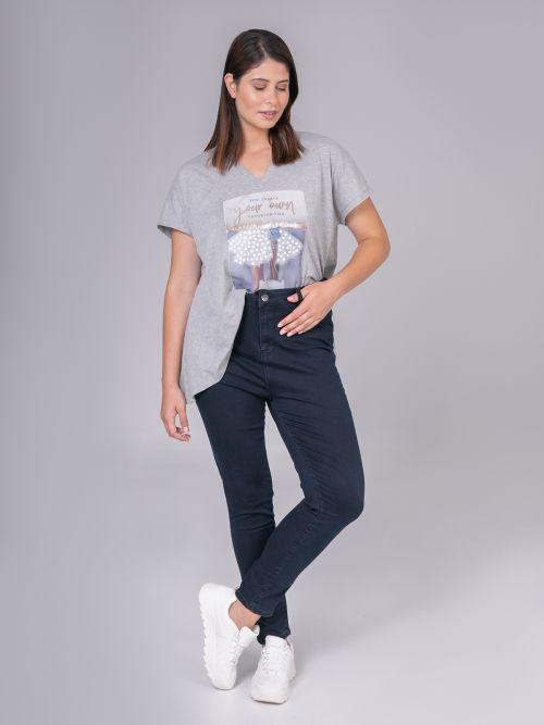 Slim jeans in dark blue denim