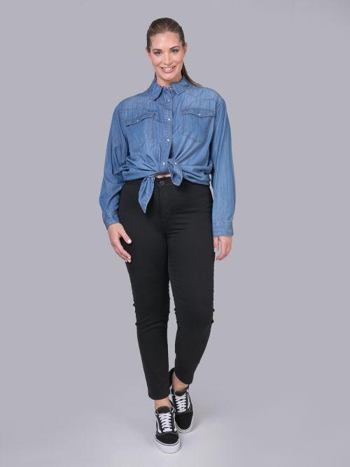 Black cigarette jeans