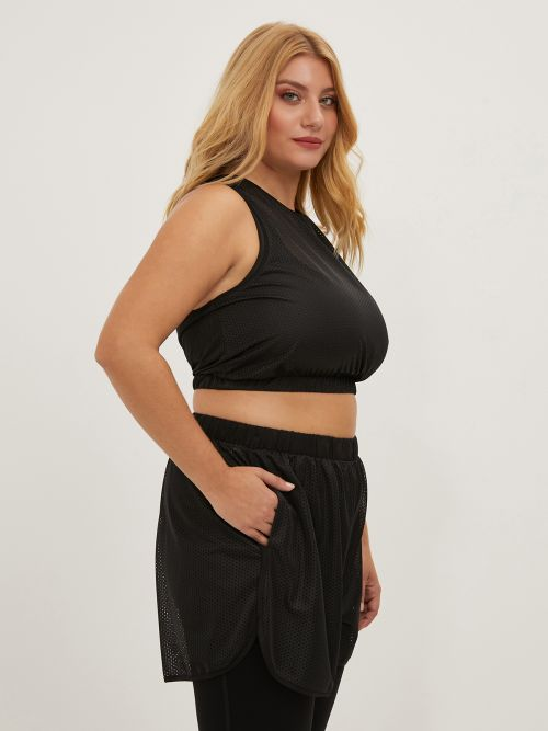 Perforated cropped top
