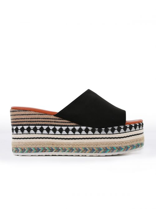 Flatforms with ethnic detailing