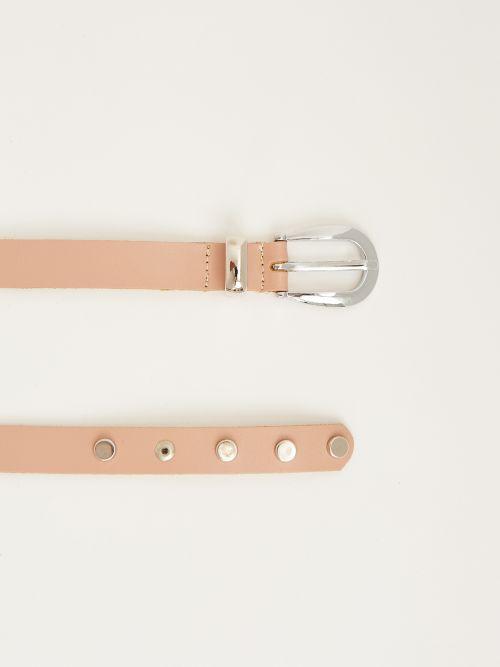 Powder leather belt