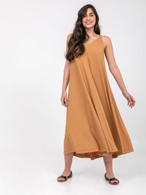 Ribbed V-neck cami dress