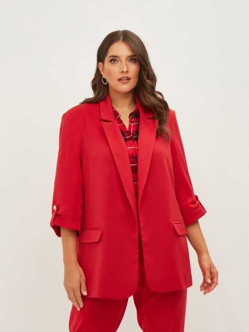 Blazer with rolled sleeves