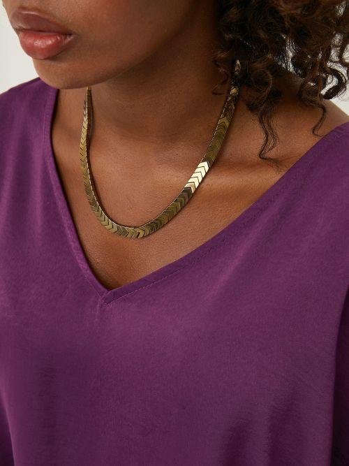 Shiny zig zag necklace