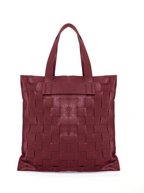 Shopper bag in red weave