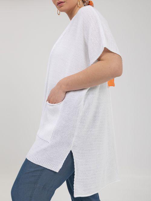 Πλεκτή ζακέτα με τσέπες