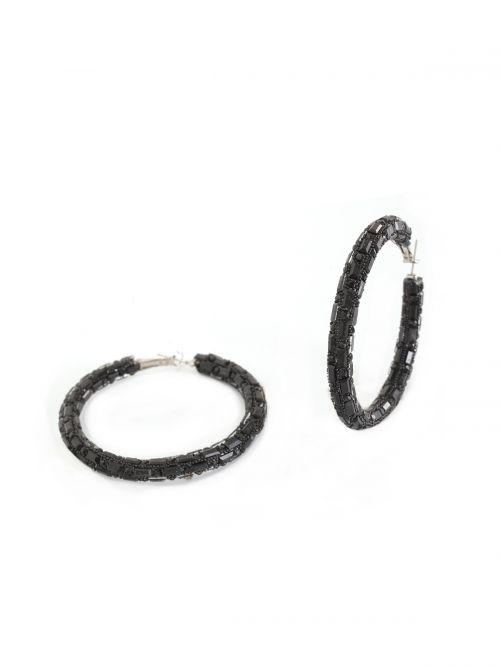 Σκουλαρίκια κρίκοι με strass
