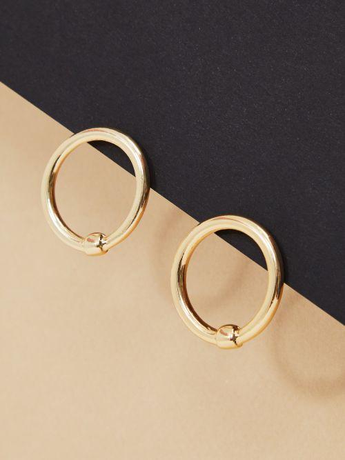 Σκουλαρίκια κρίκοι μικροί σε χρυσό χρώμα