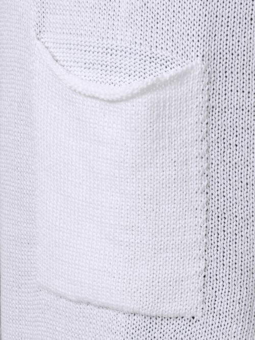 Soft-knit cardigan with pockets in white