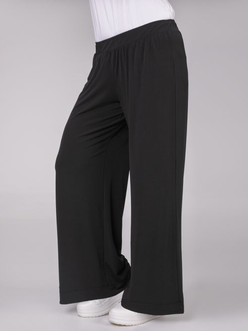 Basic straight leg super jersey trousers