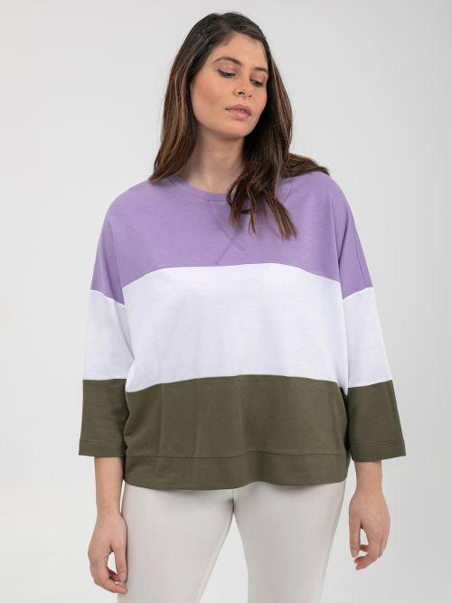 Μπλούζα φούτερ τρίχρωμη