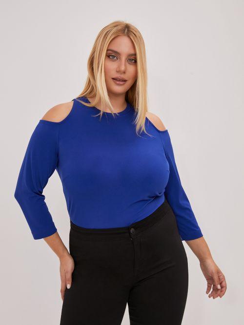Super ελαστική μπλούζα έξωμη