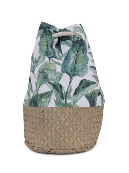 Backpack in tropical print