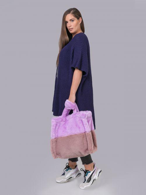 Γούνινη τσάντα shopper