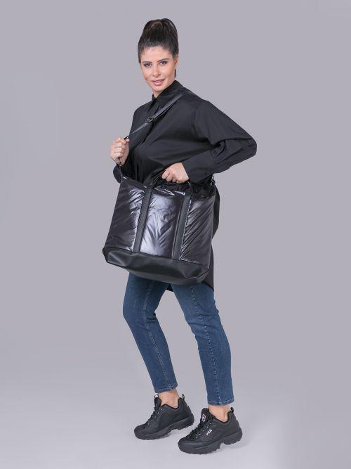 Τσάντα shopper καπιτονέ
