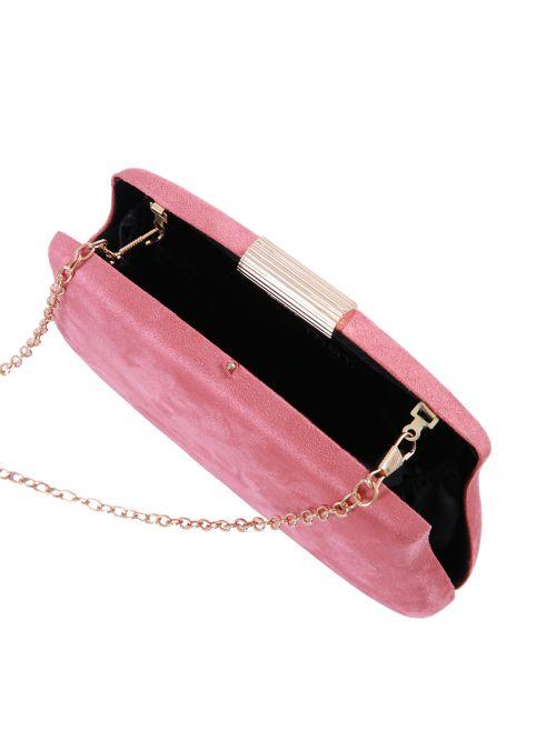 Τσάντα clutch σουέντ