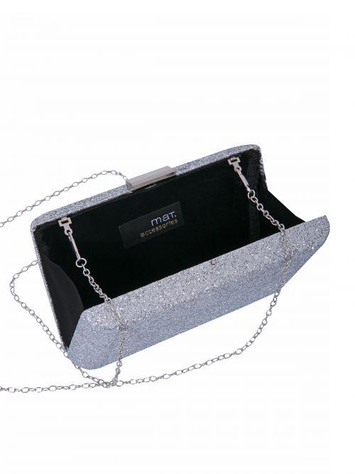 Τσάντα clutch με glitter