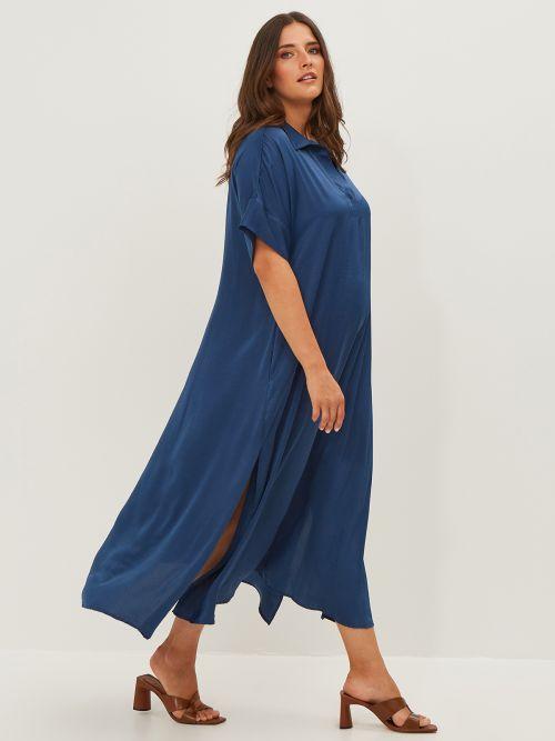 V-neck satin dress
