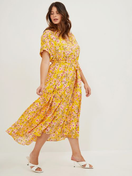 Viscose shirt-dress in floral print