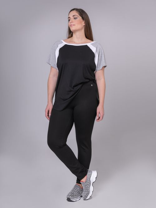 Viscose slim trousers