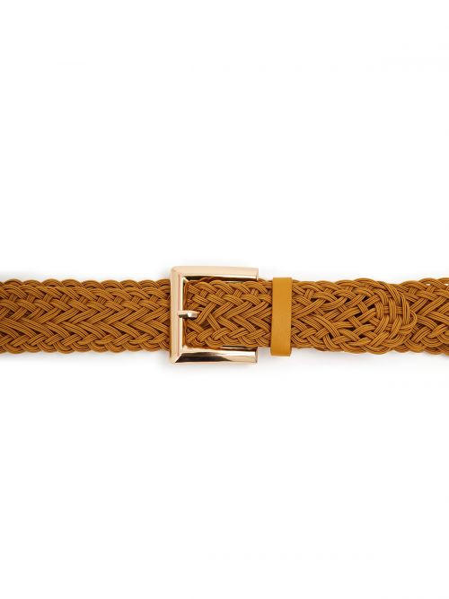 Weave belt with square buckle