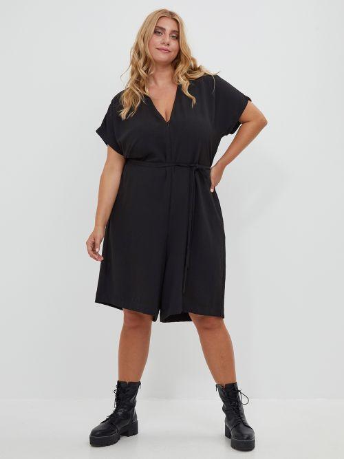 Wide-leg cropped jumpsuit
