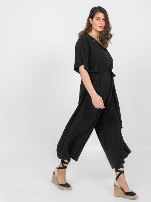 Wide leg jumpsuit with ties