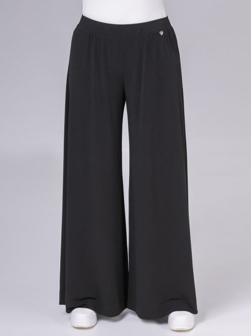 Wide leg super jersey trousers