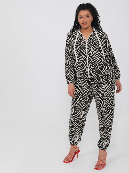 Ζακέτα hoodie σε zebra print