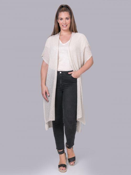Cotton-blend knit cardigan | Online Exclusive