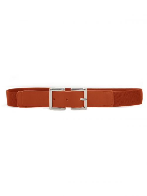 Elastic belt with square buckle