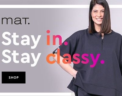 Stay in, stay classy by mat. fashion